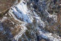 Plank road on ridge landscape Royalty Free Stock Photos