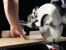 Plank sawing Stock Images