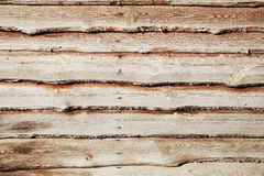 Plank surface close-up. Plank surface built of parallel rustic wood slats, to use as a background royalty free stock images