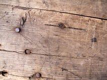 Plank with tacks Stock Photo