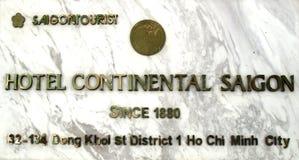 Plank van het Continentale hotel stock afbeelding