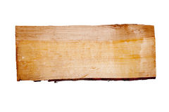 Plank of wood. Old plank of wood. Isolated on white background Stock Photo