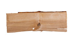 Plank of wood. Old plank of wood. Isolated on white background Royalty Free Stock Photos