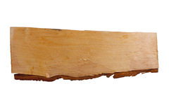 Plank of wood. Old plank of wood. Isolated on white background Royalty Free Stock Photography
