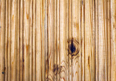 Plank of wood. Old and cracked. The surface is rough and uneven. Royalty Free Stock Photo