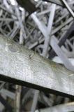 Plankan av trä med spikar Fotografering för Bildbyråer