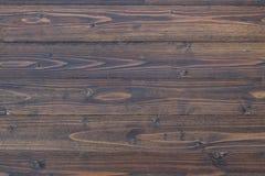 Plankatextur och bakgrund för mörk brunt Royaltyfri Fotografi