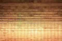 Plankaträ med reflexion för julljus Royaltyfria Foton