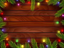 Planked wood with Christmas ornament Stock Image
