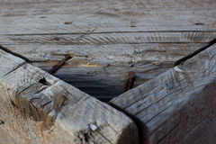 Planked wood table Royalty Free Stock Photos