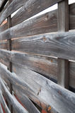 Planked wooden fence - vertical view Royalty Free Stock Image