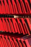 Planken als abstract rood patroon Stock Foto's