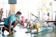 Planken met trainer royalty-vrije stock foto's