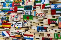 Planken mit Kindern Lizenzfreies Stockbild