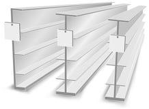 Planken in opslag Royalty-vrije Stock Foto