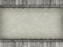 Planken und Büttenpapierhintergrund stockfoto