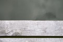 Planken- und Wasseroberfläche von der Draufsicht Lizenzfreies Stockbild