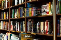Planken van een Boekhandel Stock Fotografie