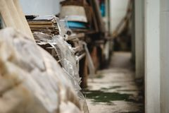 Planken van Hout in bondgenoot royalty-vrije stock afbeelding