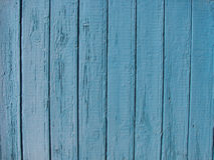 Planken van lichtblauwe houten omheining Stock Afbeelding