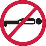 Planking forbidden. Vector sports icon Stock Photos