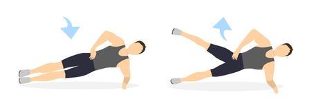Plankoefening met gewichten Royalty-vrije Stock Fotografie