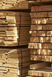 Planks. Piles of wooden planks at a sawmill stock photography