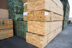 Planks Arranged In Warehouse Stock Photos