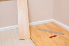 Planks being put down on floor Stock Photography