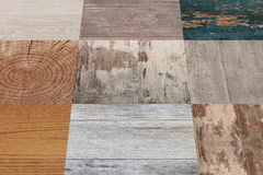 Planks of different material Stock Photography