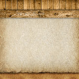 Planks, handmade paper sheet and sand Stock Photos