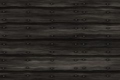 Planks with nails in a row. Can be used as signboard background Stock Photography