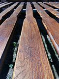 Planks. Sorted planks perspective view from Royalty Free Stock Photography