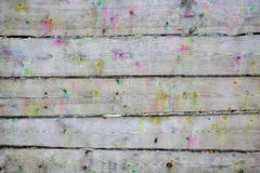 Planks splattered shots from paintball guns. Texture of wooden planks splattered shots from paintball guns Stock Photos