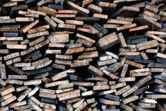 Planks of timber cut. Royalty Free Stock Photography