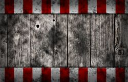 Planks with warning stripes Royalty Free Stock Images