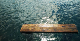 Planks in the water royalty free stock image