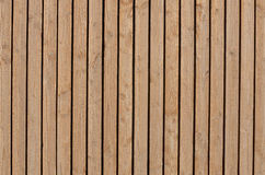 Planks. Wood boards arranged vertically with space between them Royalty Free Stock Photo