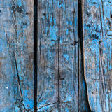 Planks of wood painted blue Stock Photography