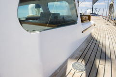 Planks of yacht deck Stock Images