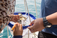 Plankton measurement Stock Photo