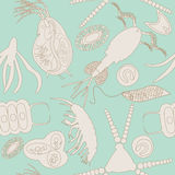 Plankton naadloos patroon Royalty-vrije Stock Afbeelding