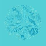 Plankton phytoplankton zooplankton outline Stock Photography