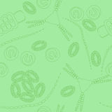 Plankton seamless pattern Royalty Free Stock Photography