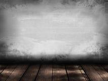 Plankvloer en muurwijnoogst stock foto