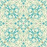 planlägg den östliga inspirerade medelseamless tegelplattan royaltyfri illustrationer