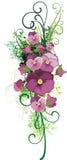 planlägg den blom- serien stock illustrationer
