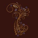 planlägg den blom- vektorn royaltyfri illustrationer