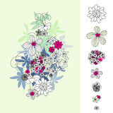 planlägg den blom- vektorn Vektor Illustrationer