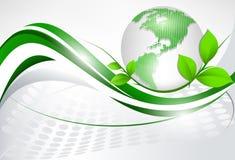 planlägg den gröna vektorn Arkivbild
